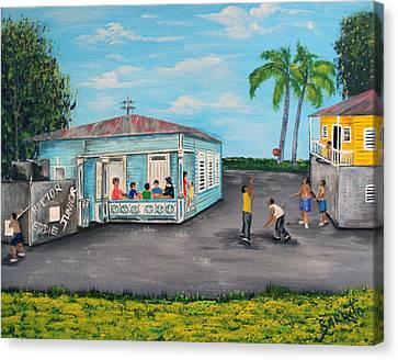 Juegos De Mi Infancia  Canvas Print by Gloria E Barreto-Rodriguez