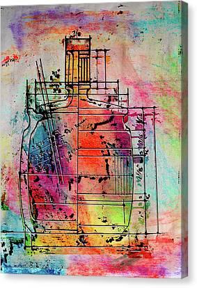 Jug Drawing Canvas Print