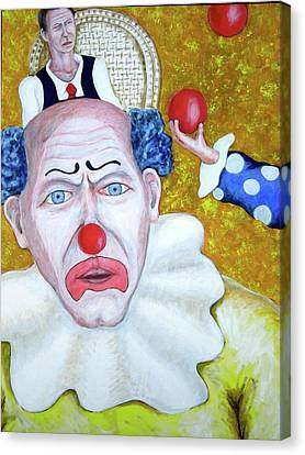 Jugglers And Clowns Canvas Print by Don Gentle
