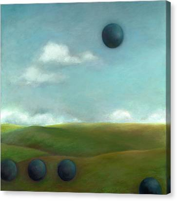 Juggling 2 Canvas Print by Katherine DuBose Fuerst
