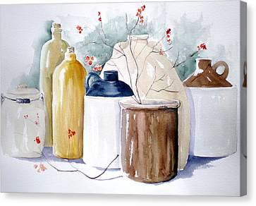 Jugs Canvas Print by Lisa Schorr