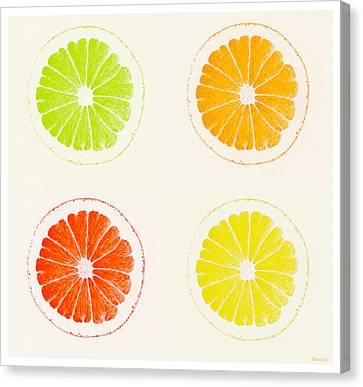 Juicy Citrus Canvas Print by Little Bunny Sunshine