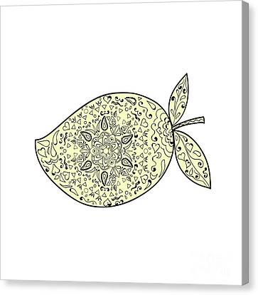 Juicy Mango Fruit Mandala  Canvas Print