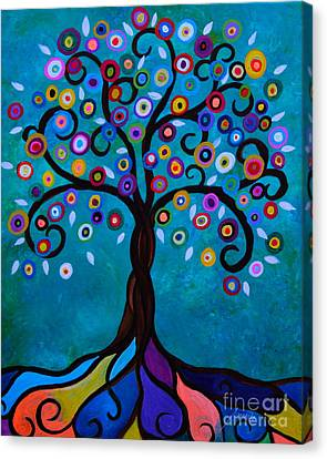 Canvas Print featuring the painting Juju's Tree by Pristine Cartera Turkus