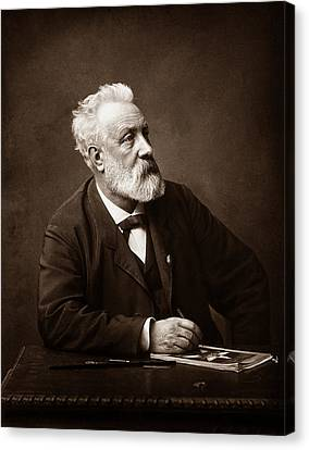 Jules Verne - Father Of Science Fiction Canvas Print by War Is Hell Store