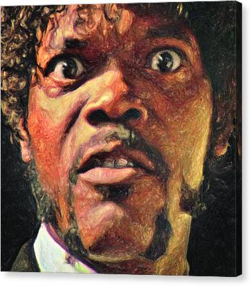 Jules Winnfield Canvas Print by Taylan Apukovska