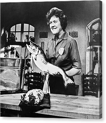 Broadcast Canvas Print - Julia Child (1912-2004) by Granger