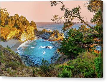 Canvas Print featuring the photograph Julia Pfeiffer Burns State Park Mcway Falls by Scott McGuire