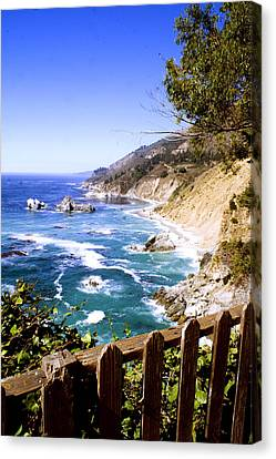 Canvas Print featuring the photograph Julia Pfiffer Burns Coast by Gary Brandes