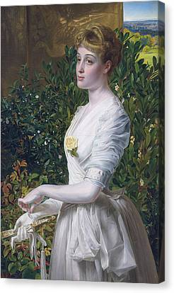 Julia Smith Caldwell Canvas Print by Frederick Sandys