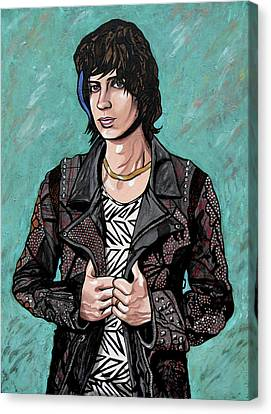 Canvas Print featuring the painting Julian Casablancas by Sarah Crumpler