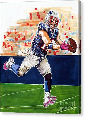 Julian Edelman Canvas Print by Dave Olsen