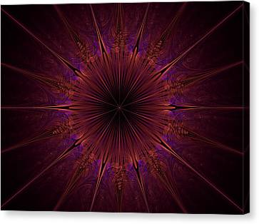 The Violet Blessings Of The Crown Chakra Canvas Print