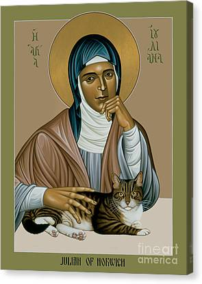 Julian Of Norwich - Rljon Canvas Print by Br Robert Lentz OFM