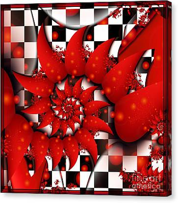 Julias Summer Red Canvas Print