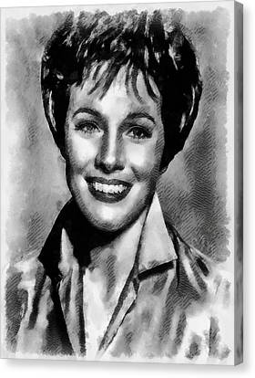 Julie Andrews Hollywood Actress Canvas Print by Frank Falcon