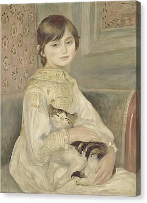 Julie Manet Canvas Print by Auguste Renoir