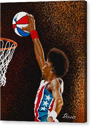Julius Erving Canvas Print - Julius by Dino Murphy