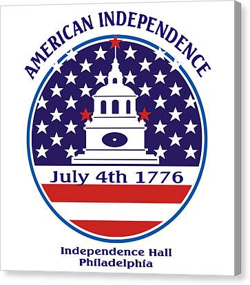 July 4th 1776 - American Independence Day Canvas Print