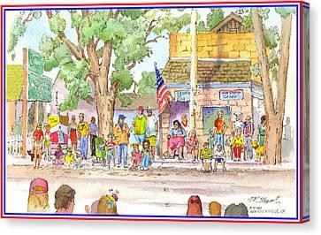 July 4th 2000 Canvas Print by John Norman Stewart