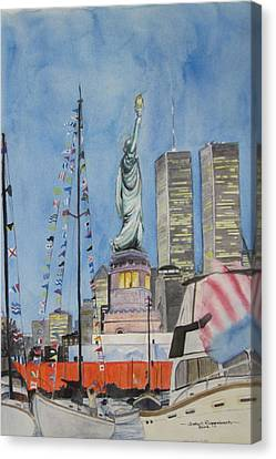 July 4th Canvas Print by Judy Riggenbach