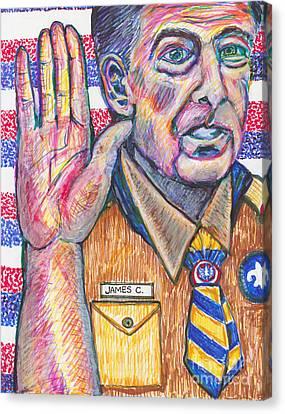 July 8 James Comey- Canvas Print by Susan Brown    Slizys art signature name