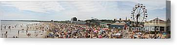 Canvas Print featuring the photograph July Fun At Old Orchard Beach by David Bishop