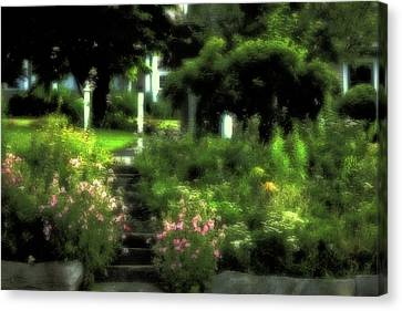 July Garden Canvas Print