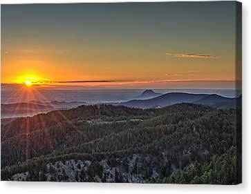 July Sunrise Canvas Print
