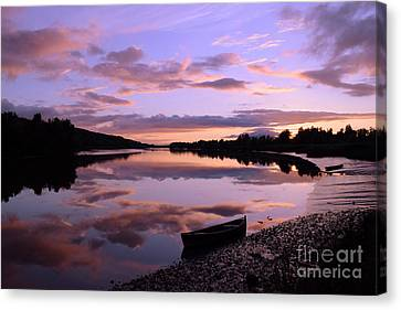 July Sunset At Fiddown Canvas Print