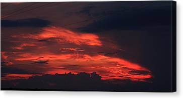 July Sunset Canvas Print by Dave Clark