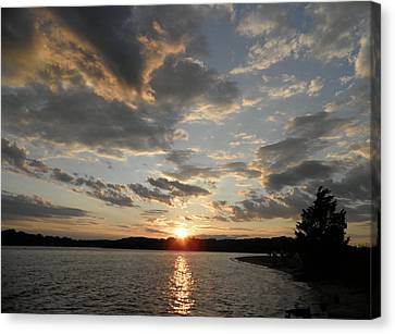 July Sunset Canvas Print by Kate Gallagher