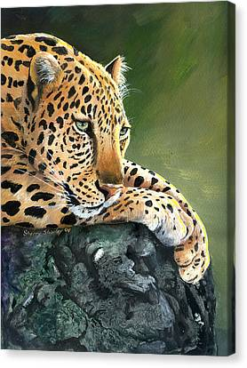 Canvas Print featuring the painting Jumanji by Sherry Shipley