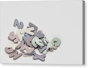 Messy Canvas Print - Jumbled Letters by Scott Norris