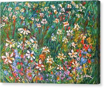 Jumbled Up Wildflowers Canvas Print
