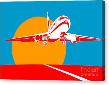 Jumbo Jet  Canvas Print by Aloysius Patrimonio