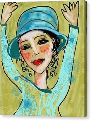 Jump For Joy Canvas Print by Elaine Lanoue