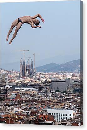 Jump Canvas Print by Klaus Lenzen