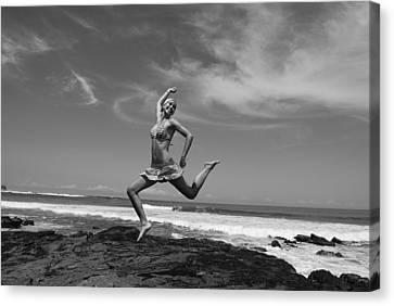 Jumping Canvas Print by Cesar Marino
