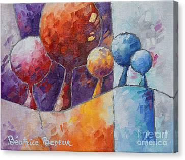 Inspirational. Pointillism Canvas Print - Junction by Beatrice BEDEUR