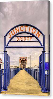 Junction Bridge Little Rock Canvas Print by JC Findley