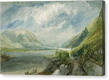 Junction Of The Lahn Canvas Print by Joseph Mallord William Turner