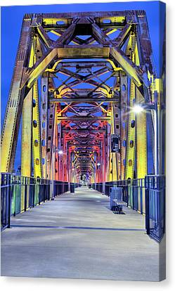 Junction Pedestrian Bridge Canvas Print by JC Findley