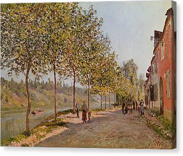 June Morning In Saint Mammes Canvas Print by Alfred Sisley