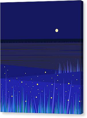 June Nights   Canvas Print by Val Arie