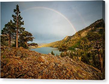 June Storm Over Echo Lake Canvas Print by Dan Holmes