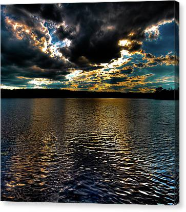 Canvas Print featuring the photograph June Sunset On Nicks Lake by David Patterson
