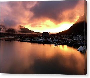 Juneau Sunset Canvas Print