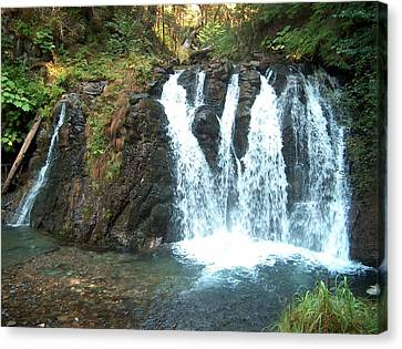 Juneau Waterfall Canvas Print by Janet  Hall