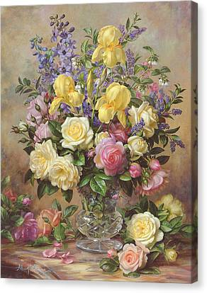 June's Floral Glory Canvas Print by Albert Williams